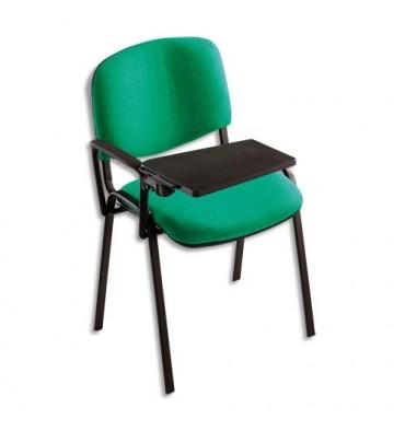 Tablette écritoire adaptable sur chaise conférence 4 pieds tissu - Dimensions : L35 x H1,8 x P25 cm noir