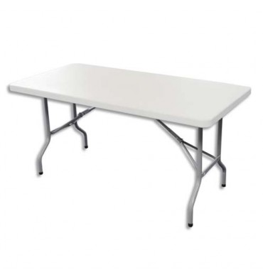 SODEMATUB Table pliante polyethylène format 122x 61 x 74 cm