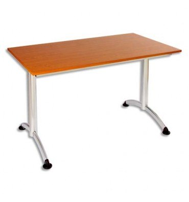 SODEMATUB Table New Line 120x70cm merisier alu
