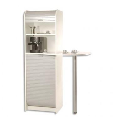 SIMMOB Meuble de rangement pour machine à café et four à micro-ondes