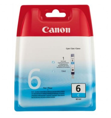 CANON Cartouche jet d'encre cyan pour I550 BCI 6C