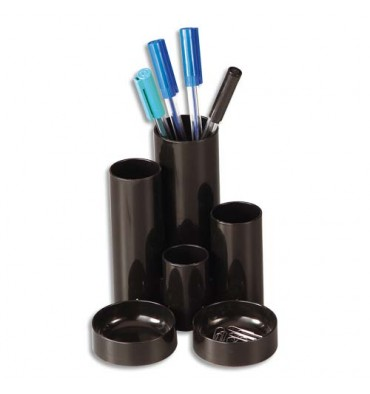 5 ETOILES Pot à crayons multifonctions noir