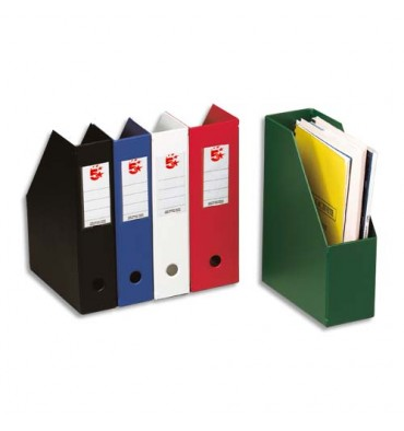 5 ETOILES Porte-revues en PVC soudé dos de 7 cm, blanc, livré à plat