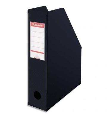 ESSELTE Porte-revues en PVC soudé, dos de 7 cm, noir