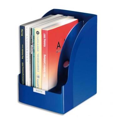 LEITZ Porte-revues Jumbo Leitz Plus - Bleu - (hxp) 32 x 25,5 cm - Dos 21 cm