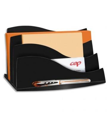 CEP Trieur à enveloppes Ellypse 22,5 x 12,7 x 13 cm coloris noir
