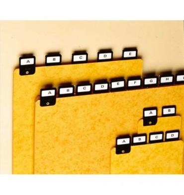 VALREX Jeu de 25 intercalaires avec onglet métallique pour boîte à fiches format A6 en largeur