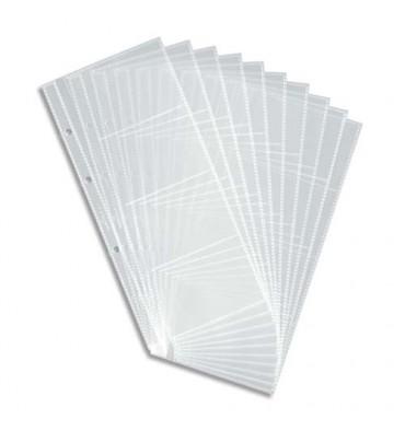 DURABLE Sachet de 10 pochettes de 8 vues transparentes pour cartes de visite Visifix Centium