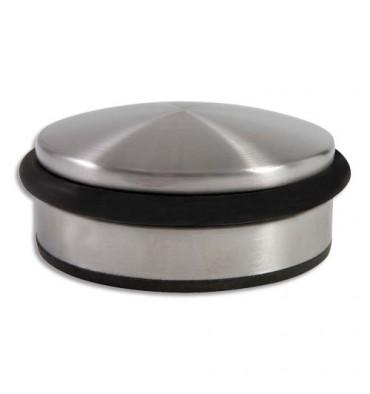 ALBA Butée de porte en acier et élastomère - semelle antidérapante Dimensions Ø 9 x 4 cm