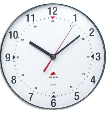 ALBA Horloge murale ronde diamètre 25 cm Horclass