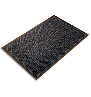 FLOORTEX Tapis d'accueil Ultimat gris vinyle, nylon et fibres renforcées 90 x 150 cm épaisseur 9 mm