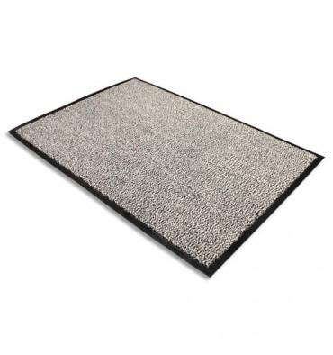 FLOORTEX Tapis d'accueil Advantage gris en polypropylène 90 x 150 cm épaisseur 10 mm