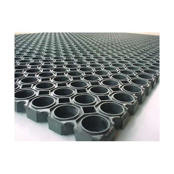 Floortex Tapis Caillebotis Noir Int Ext 100 X 150 Cm Pais 22 Mm