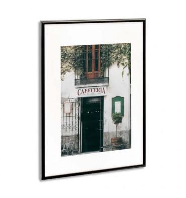 PHOTO ALBUM COMPANY Cadre photo, contour alu noir, plaque transparente incassable, format 50 x 70 cm