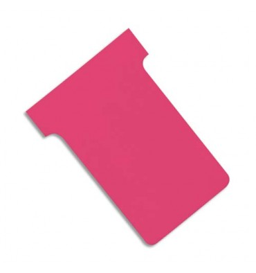VALREX Etui de 100 fiches T NOBO en carton 170 g/m2 indice 3 rose