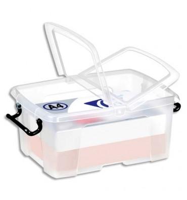 CEP Boîte de rangement Smart Box Strata avec couvercle clipsé transparent 12L