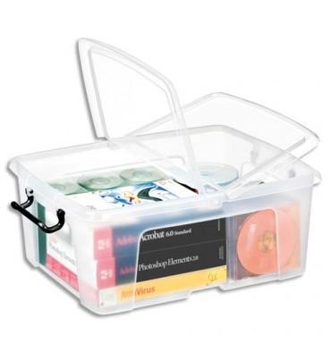 CEP Boîte de rangement Smart Box Strata avec couvercle clipsé transparent 24L