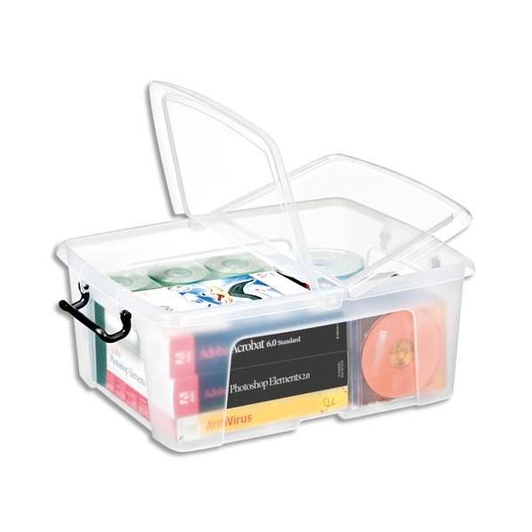 CEP Boîte de rangement Smart Box Strata avec couvercle clipsé transparent 24L (photo)