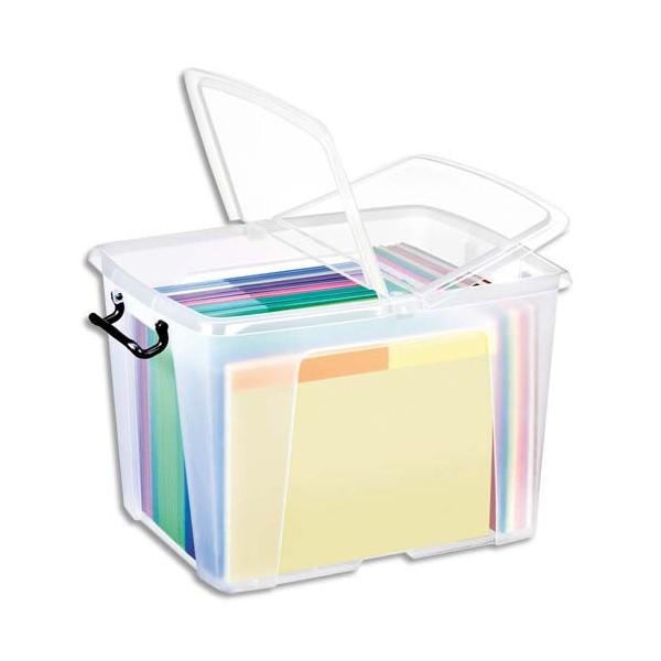 CEP Boîte de rangement Smart Box Strata avec couvercle clipsé transparent 40L (photo)