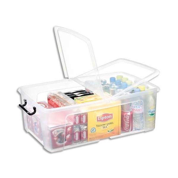 CEP Boîte de rangement Smart Box Strata avec couvercle clipsé transparent 50L (photo)