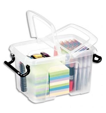 CEP Boîte de rangement Smart Box Strata avec couvercle clipsé transparent 6L