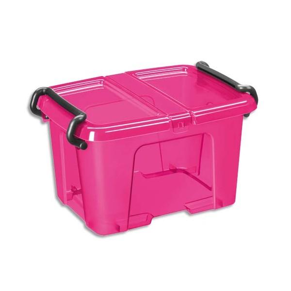 cep boite de rangement plastique avec couvercle capacit 6 litres colori rose. Black Bedroom Furniture Sets. Home Design Ideas