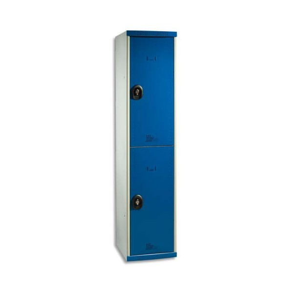 ACIAL Multicasier Optimum 2 portes corps gris porte bleue (photo)