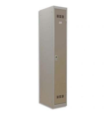 PIERRE HENRY Vestiaire métal industrie propre 1 casier largeur 30 cm gris perle basalte