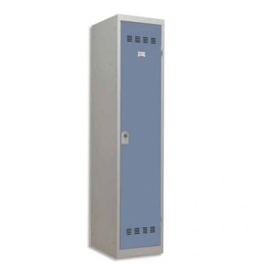 PIERRE HENRY Vestiaire métal industrie sale 1 casier largeur 40 cm gris perle bleu