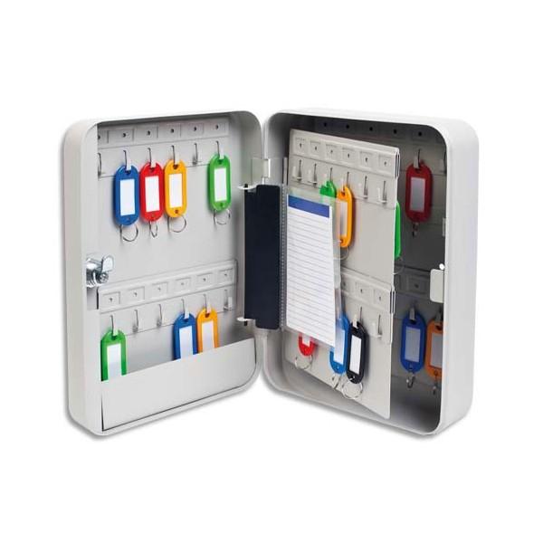 5 ETOILES Armoire à clés capacité 45 clés grise - Dimensions : 18 x 25 x 8 cm (photo)