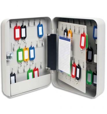 5 ETOILES Armoire à clés capacité 60 clés grise - Dimensions : 18 x 25 x 8 cm