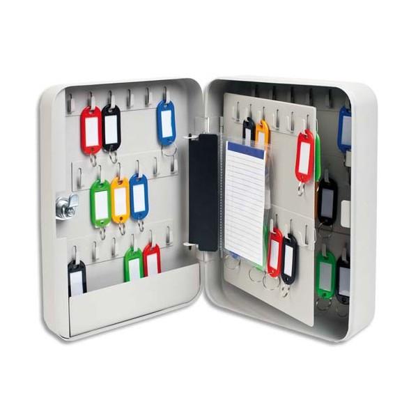 5 ETOILES Armoire à clés capacité 60 clés grise - Dimensions : 18 x 25 x 8 cm (photo)