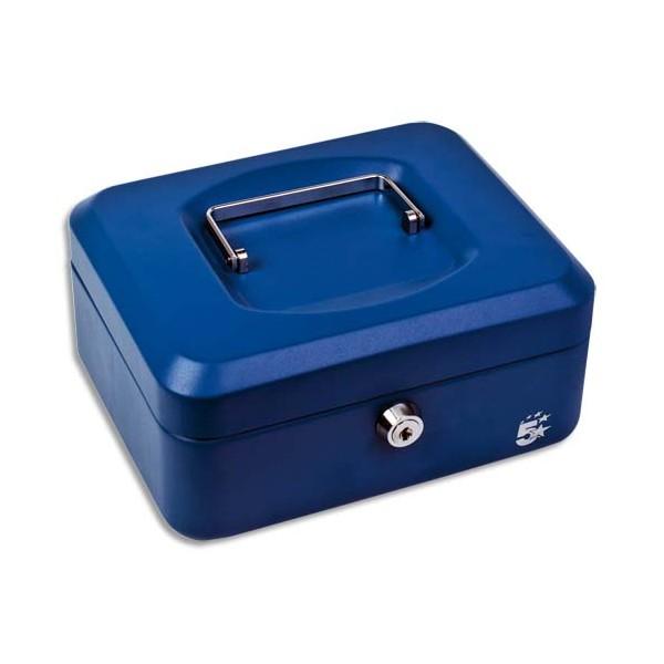 5 ETOILES Caisse à monnaie bleue - Dimensions : 30 x 9 x 24 cm (photo)