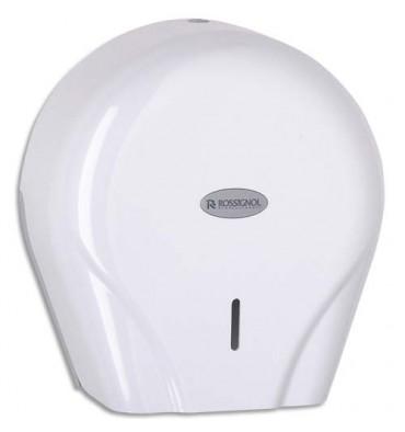 ROSSIGNOL Distributeur Oleane pour papier toilette 400 m avec clef blanc pour maxi et mini jumbo