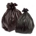 SACS POUBELLES Boîte de 200 Sacs-poubelle en basse densité 100 L noir