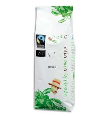 PURO Paquet de 250g de café Bio moulu arabica, origine agriculture biologique