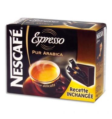 NESCAFE Boîte de 25 sticks de café instantané pur Arabica Espresso de 2g