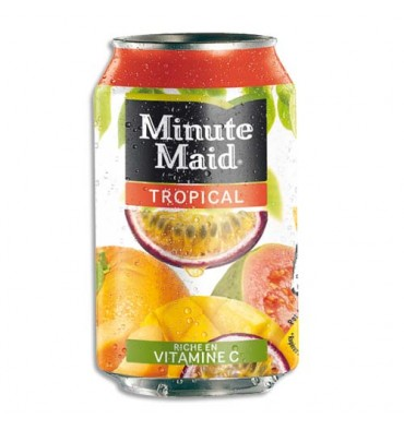 MINUTE MAID Cannette de jus saveur tropical de 33 cl