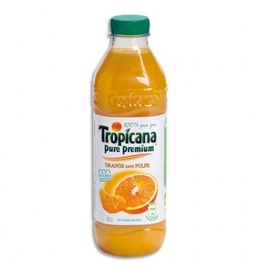 TROPICANA Bouteille plastique de jus d'orange pulpe de 1 litre