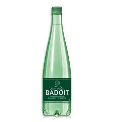 BADOIT Bouteille plastique d'eau pétillante de 1 litre