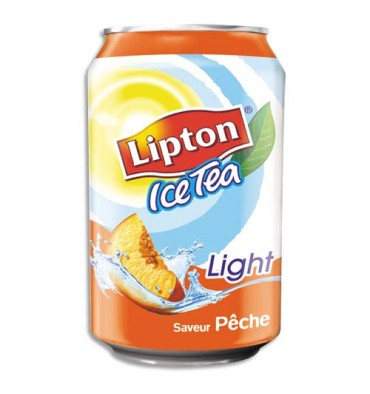 LIPTON ICE TEA LIGHT Canette pêche 33 cl