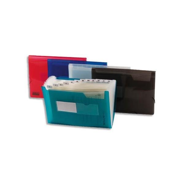 5 ETOILES Trieurs en plastique 13 compartiments, pochettes pour cartes de visite, coloris assortis (photo)