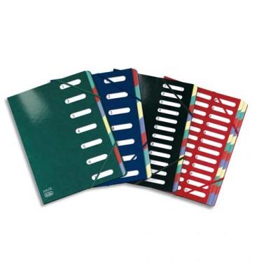ELBA Trieur Carte d'or 7 compartiments coloris assortis, couverture en carte pelliculée 7/10e