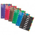 ELBA Lot de 14 trieurs en carte pelliculée, 8 positions verticales et horizontales, A4, coloris assortis