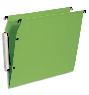 ESSELTE Pack de 10 dossiers suspendus ARMOIRE en polypropylène opaque. Fond V, bouton-pression. Vert