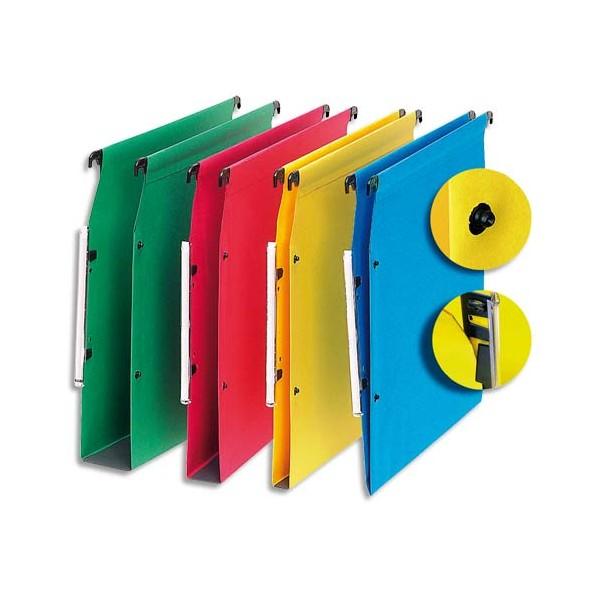 5 ETOILES Boîte de 25 dossiers suspendus ARMOIRE en kraft 220g. Fond 30 mm, volet agrafage + pression. Rouge (photo)