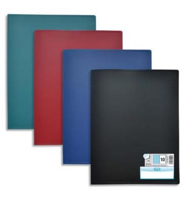 ELBA 10 protège-documents en polypropylène memphis assortis classique 40 vues 20 pochettes