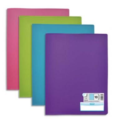 ELBA Protège-documents en polypropylene memphis assortis style, 40 vues 20 pochettes
