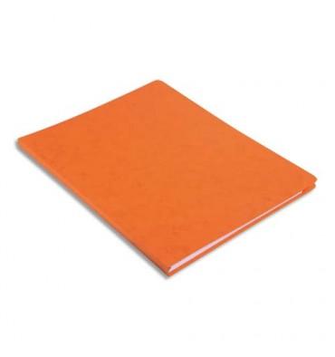 EXACOMPTA Chemise à dos rainé , en carte lustrée 5/10e orange