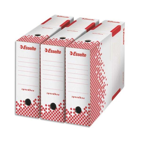 Boite archive speed box esselte carton recyclable - Boites archives design ...
